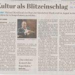 MZ Sangerhausen Bericht Presse MENDL FESTSPIELE ZEITZ im Gastort 26Juni19